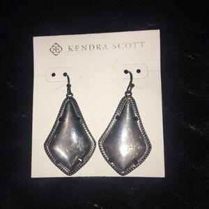 Kendra Scott GUNMETAL earrings